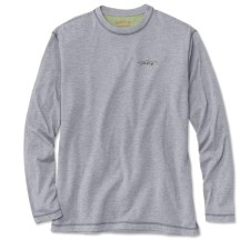 Orvis Drirelease Casting Crewneck Longsleeve Shirt Heathered Grey