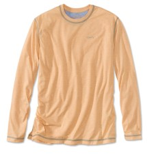 Orvis Drirelease Casting Crewneck Longsleeve Shirt Pale Orange