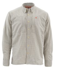 Simms Bugstopper Shirt Dark Slate Plaid