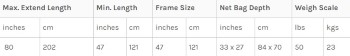 McLean Salmon Weigh 3XL Size Chart