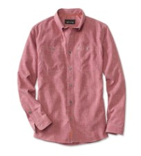 Orvis Tech Chambray Work Shirt Red