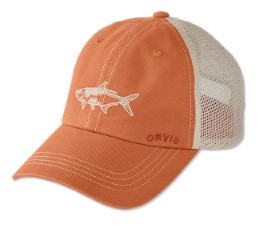 Orvis Saltwater Bum Mesh Cap Orange