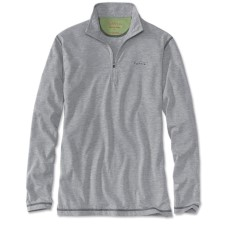 Orvis Drirelease Casting Zipneck Longsleeve Shirt Heather Grey