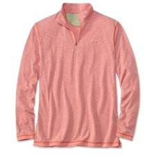 Orvis Drirelease Casting Zipneck Longsleeve Shirt Weathered Red
