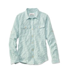 Orvis Rainy Bridge Long Sleeve Shirt Sky Blue