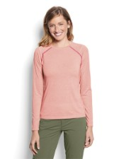 Orvis Womens Drirelease Longsleeve Tee Orange Blossom