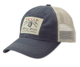 Orvis Vintage Trucker Ball Cap Navy