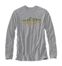 Orvis Brown Trout Drirelease Long Sleeve T-Shirt Heather Grey