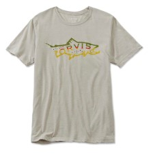 Orvis Hookjaw Brown Trout T-Shirt Light Grey