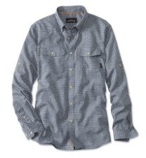 Orvis Clearwater Aerated Chambray Shirt Dark Chambray
