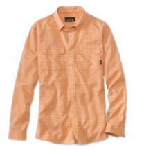 Orvis Clearwater Aerated Chambray Shirt Pale Orange