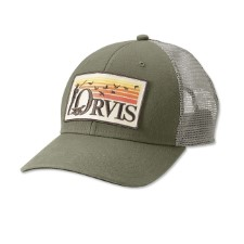 Orvis Retro Flush Olive Trucker Hat