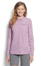 Orvis Womens Open Air Caster Shirt Violet