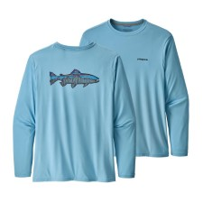 Patagonia Capilene Sketched Fitz Roy Trout Cool Daily LS Men's