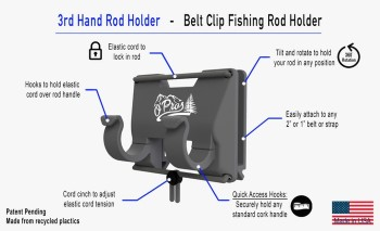 O'Pros 3rd Hand Fly Fishing Rod Holder