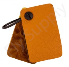 Amadou Brown Leather Patch Large With Velcro Attachment