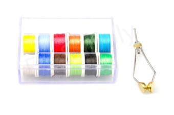 Antron Yarn Assortment 12 Colors Incl Bobbin Holder