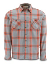 Simms Black's Ford Flannel Shirt Fury Orange Plaid