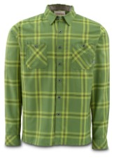 Simms Black's Ford Flannel Shirt Grove Plaid