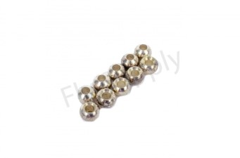Brass Silver Beads 10pc
