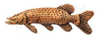 Bronze Pewter Pike Pin