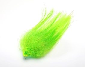 Hedron Big Fly Fibre Curled Green Horned