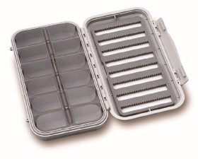 C&F Large 8-Row Waterproof Fly Case With 12 Compartments - CF-3308