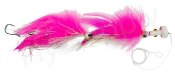 Cam Sigler's Sailfish Popper White/Pink With Complete Rig & Hooks