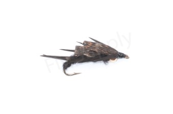 Double Biot Stone Fly Black #8