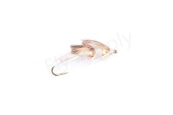 Double Biot Stone Fly White #8
