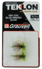 Dry CDC Blue Winged Olive #16 - 2pc