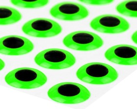 3D Epoxy Eyes Fluo Green 20pc