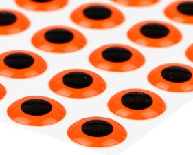 3D Epoxy Eyes Fluo Orange 20pc