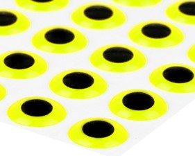 3D Epoxy Eyes Fluo Yellow 20pc