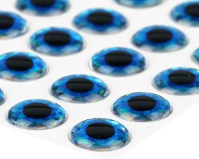 3D Epoxy Eyes Holographic Blue 20pc