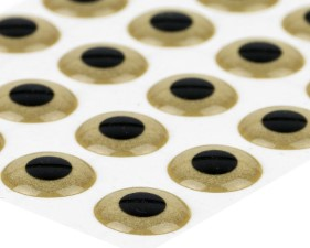 3D Epoxy Eyes Sand Gold 20pc