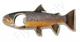 Euro Flies Brown Trout Bottle Opener