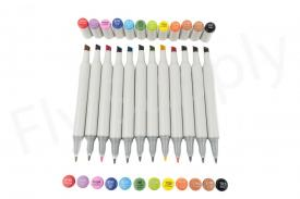 Euro Flies Permanent Markers 12 Pack