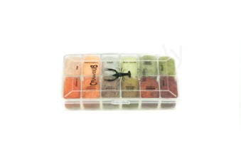 Dubbing dispensers 12 color craw dub