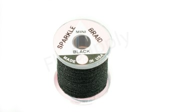 Miniature sparkle braid on spools Black