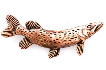 Northern Pike XL Bronze Pin