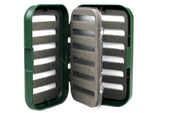 Slit Foam Fly Box Double Layer Green Small
