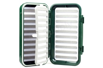 Slit Foam Fly Box Double Layer Green Large