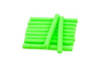 Booby tubes medium 6 mm  Fluo Green