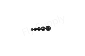 Tungsten Beads grey-black 20pc