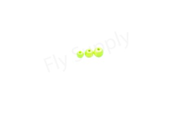 Bright beads Fluo Chartreuse  25pc