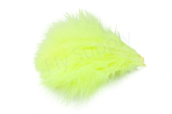 Marabou 12 loose feathers  Fluo Yellow