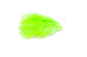 Marabou 12 loose feathers  Fluo Chartreuse