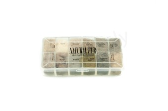 Dubbing dispensers 12 color natural fur