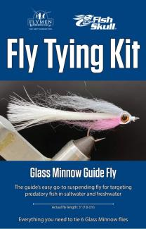 Fly Tying Kit Fish-Skull Glass Minnow Guide Fly